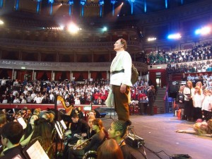As Gluck's Orpheus with Camden schools choirs at the Royal Albert Hall.
