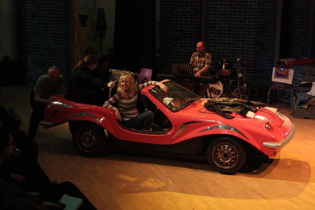 Opera Blocks in Barnsley with Pamela Hay at the wheel & Ezra Williams at the keys.