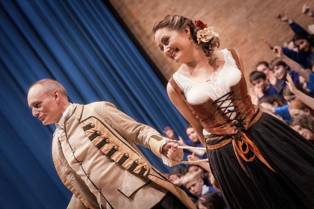 As Don José with Melanie Lodge as Carmen. Photo: Martin Bond