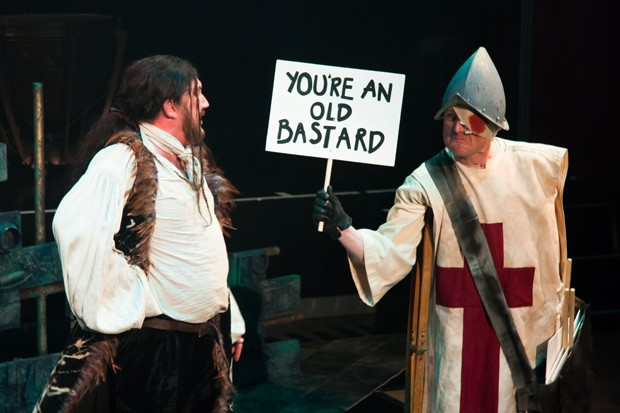 "As Rattlebone in Offenbach's ""Croquefer"" with Carl Sanderson as Croquefer. Opera della Luna."